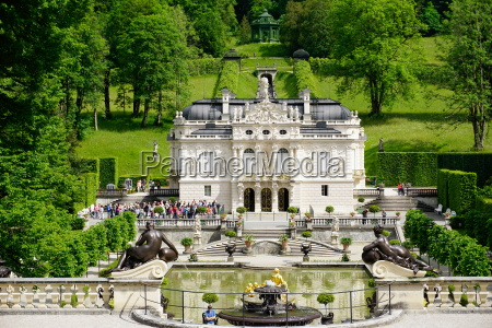 palace of linderhof royal villa of