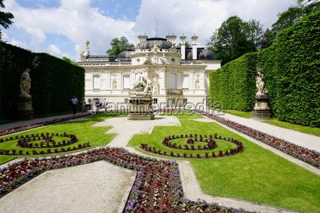 palace of linderhof royal villa of