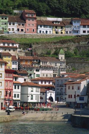 cudillero fishing village asturias spain europe