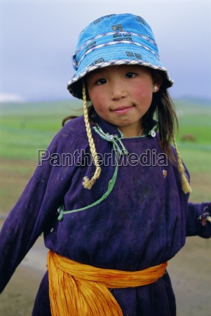 portrait of a girl ovorkhangai province