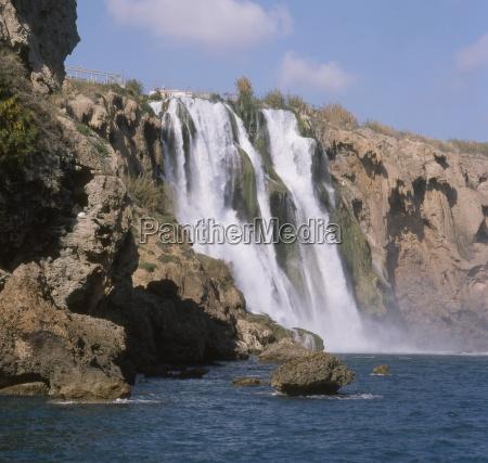 lower duden falls antalya anatolia turkey