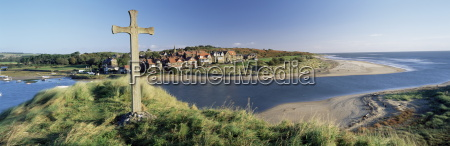 view of the village of alnmouth