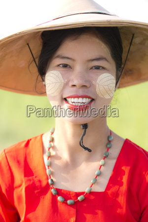 portrait of local woman wearing traditional