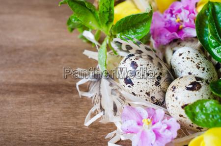 ostern zusammensetzung von eiern und von