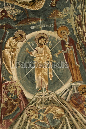 religious wall paintings frescoes sandal church