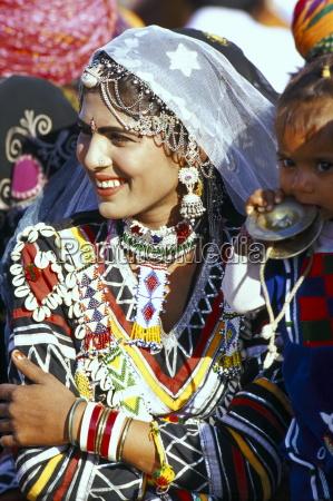 rajasthani girl adorned with jewellery bikaner