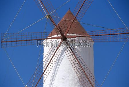 old traditional windmill es mercadal minorca