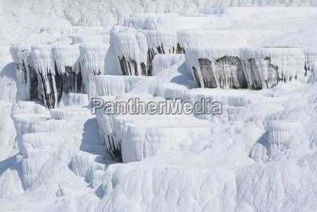 gleaming white travertine terraces nicknamed cotton