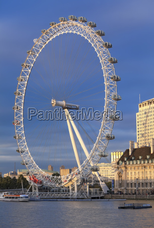 the millennium wheel london eye with