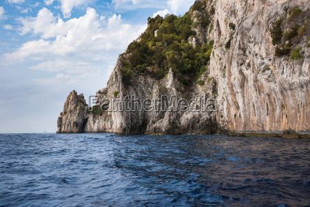 cliff coast of capri island