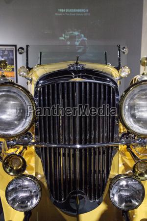 yellow 1984 duesenberg ii sj