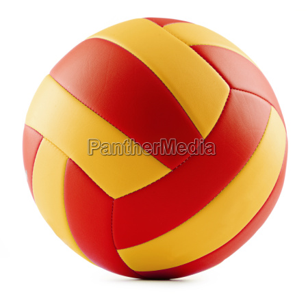 leather volleyball isolated on a white