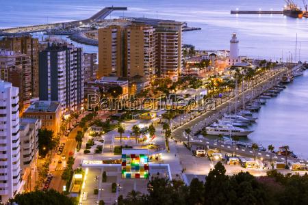 stadtbild von malaga andalusien spanien