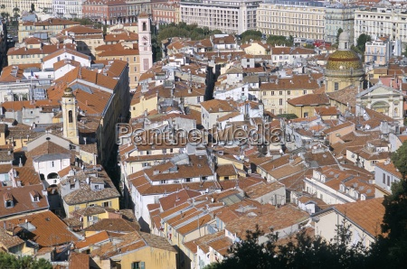 view of the old town from
