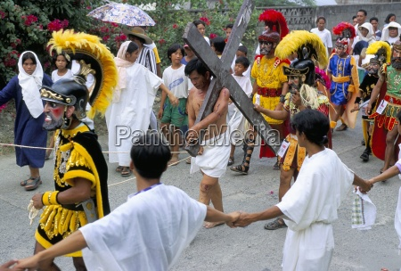 christ of calvary in easter procession