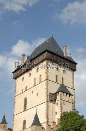 tower of the gothic castle of