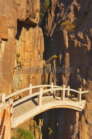 footbridge white cloud scenic area huang