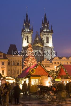 christmas market at staromestske old town