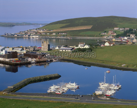 view of scalloway ancient capital of