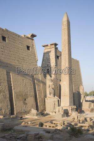 obelisk and pylon of ramesses ii