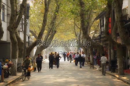 street scene souzhou suzhou china asia