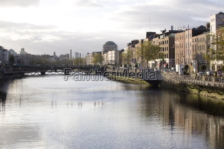 the liffey river dublin republic of