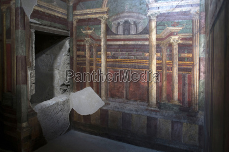 geometrische fresken der cubicola in der