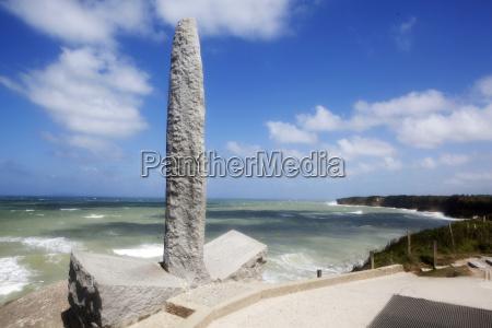 memorial monument at point du hoc