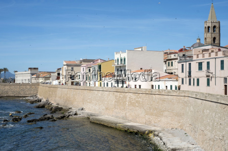 the sea promenade of alghero sardinia
