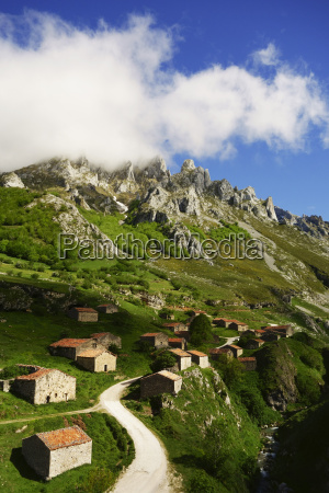 old farmhouses near sotres picos de