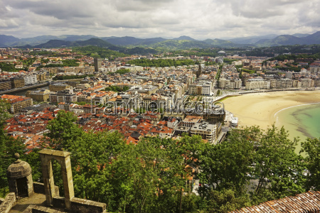 view of san sebastian from monte