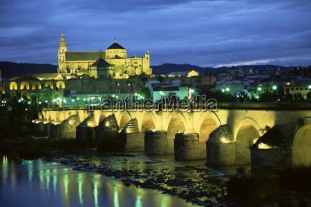 mezquita cathedral and puente romano roman