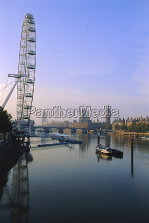 das london eye millennium wheel themse