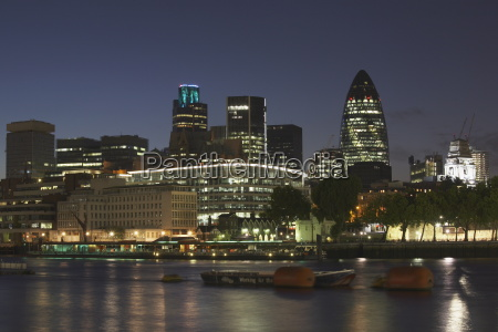 city of london viewed from the