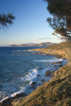 coast near llle rousse corsica france