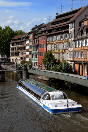 timbered buildings la petite france canal