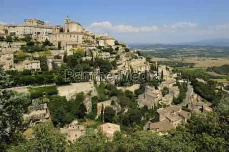 the hilltop village of gordes designated