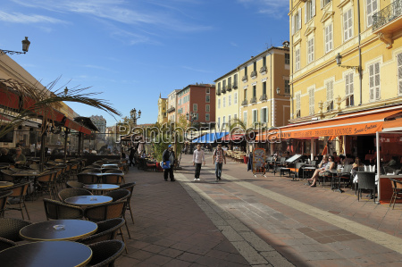 cours saleya market and restaurant area