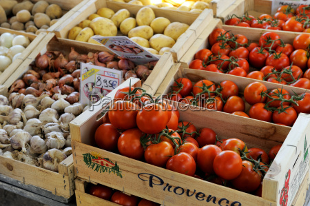 fruit and vegatable stall on a