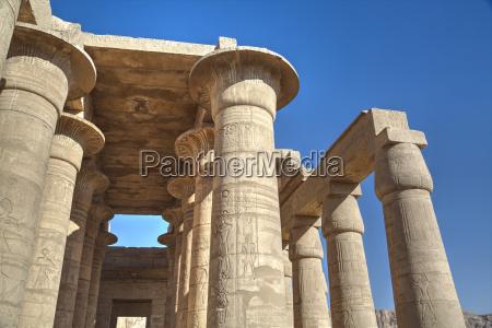 column reliefs hypostyle hall the ramesseum