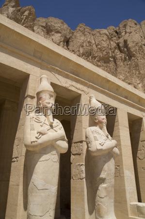 statues of osiris deir el bahri