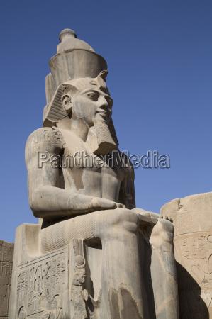 statue of seated ramses ii court
