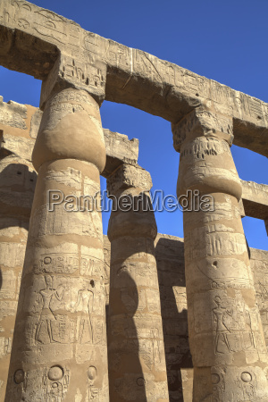 columns in the court of ramses