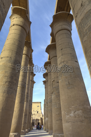the colonnade of amenhotep iii luxor