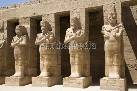osiride statues of ramses iii ramses