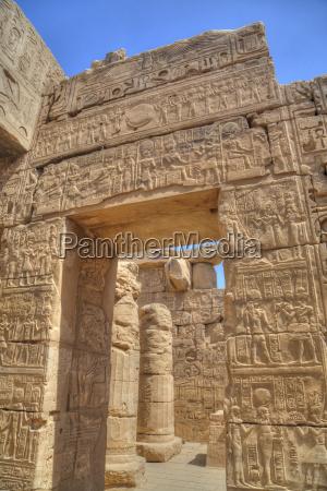 doorway in the temple of khonsu