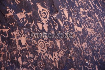 ancient american indian petroglyphs at newspaper