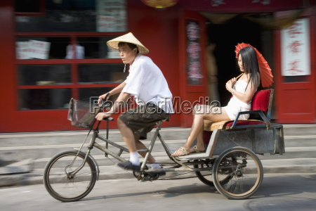 asian woman chinese thai in cycle