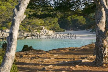 macarella beach menorca balearic islands spain