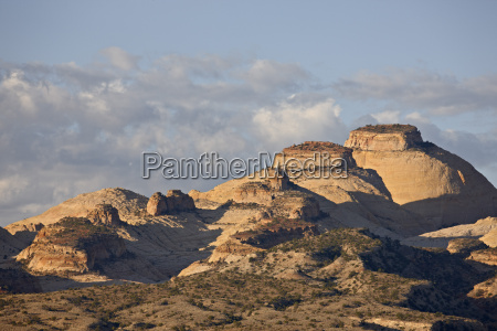 sandstone domes and clouds capitol reef